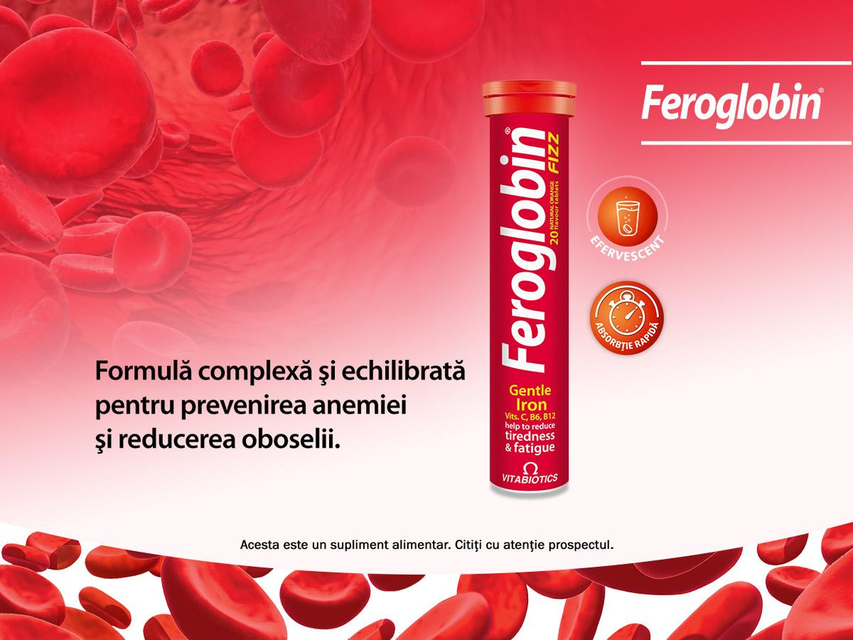 Feroglobin Fizz is a dietary supplement recommended for the normal formation of red blood cells and hemoglobin.