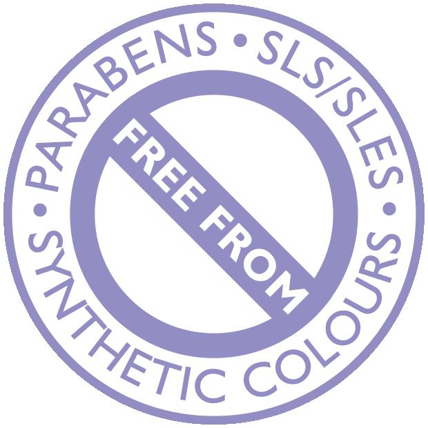 Χωρίς Parabens, SLS / SLES, συνθετικά χρώματα
