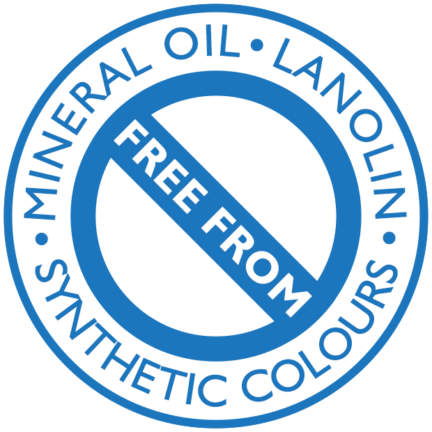 Free from Mineral Oil, Lanolin, Synthetic Colours