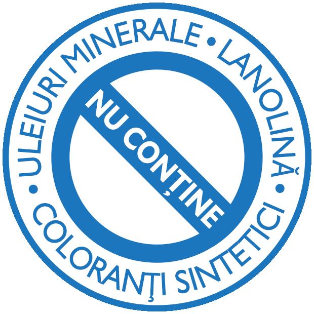 Nu conține uleiuri minerale, lanolină sau coloranți sintetici
