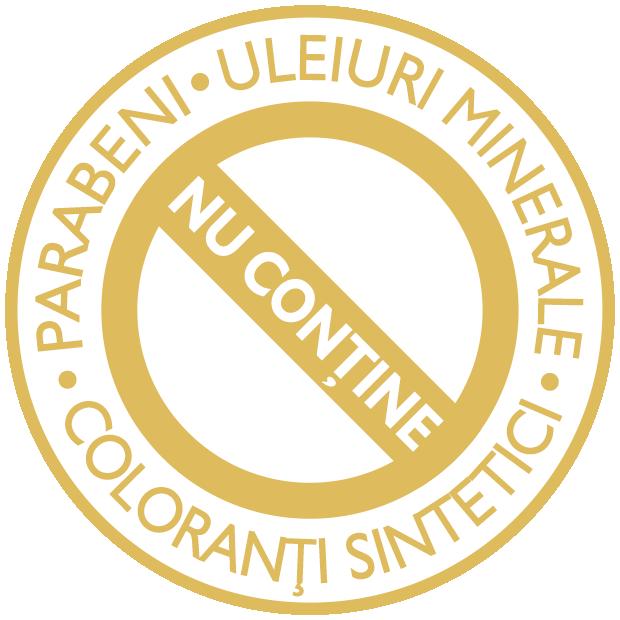 Nu conține parabeni, uleiuri minerale sau coloranți sintetici