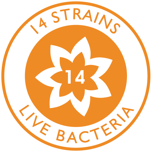 14 strains of live bacteria