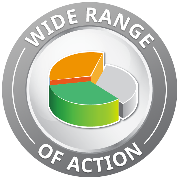Wide range <br> of action